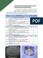 Informe de Protectores Para Extractores de Humo Del Comedor