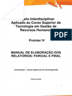 PROINTER IV TRH4 Manual e Ficha Descritiva