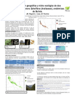 Distribución geográfica del nicho ecologico