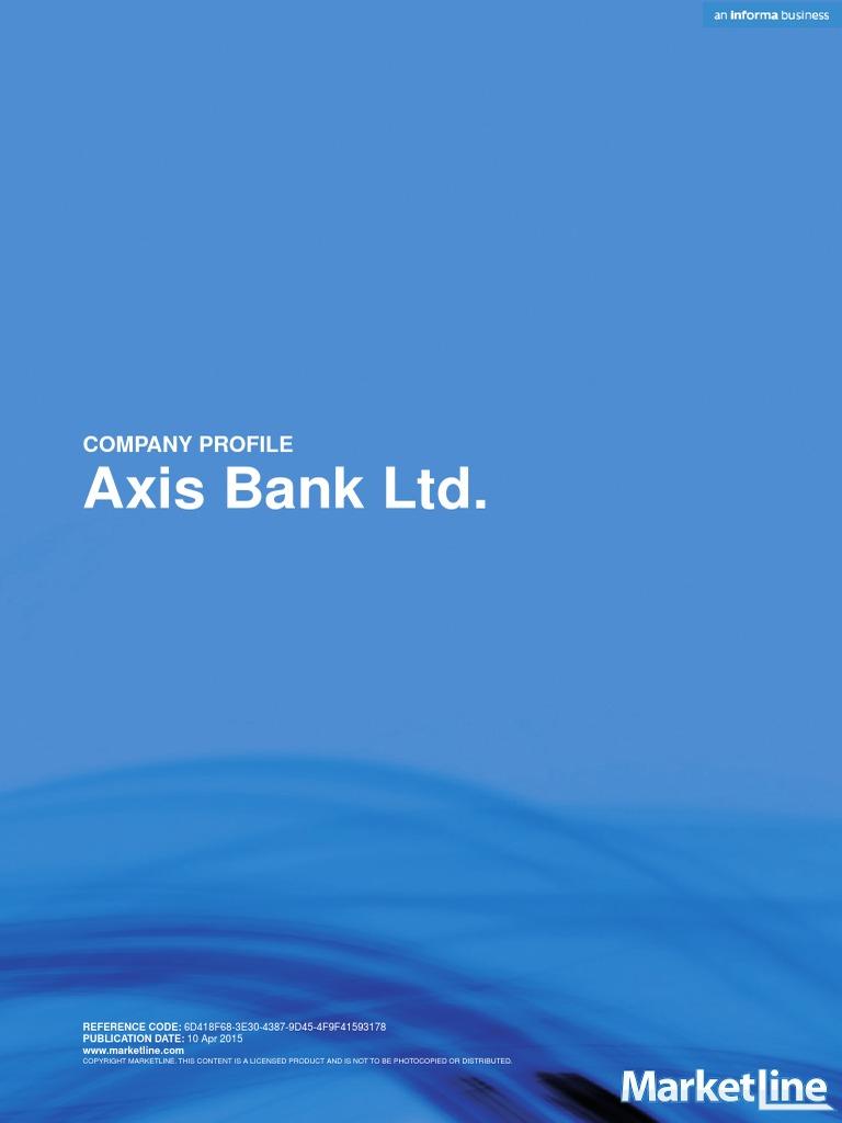 axis bank ltd swot analysis reserve bank of india banks