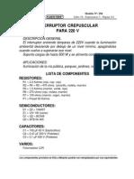 Interruptor Crepuscular Para 220V