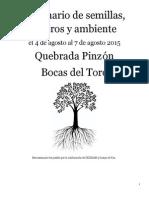 Seminario de Semillas Bocas Del Toro 2015