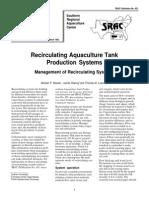 Recirculating Aquaculture Tank Production Systems