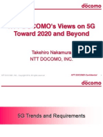 5Gz NTT Docomo Views on 5G Toward 2020 and Beyond Takehiro Nakamura LTEWS June 2014 2