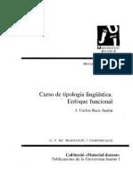 Curso de Tipología Lingüística