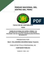 TESIS DE DISEÑO DE UN MODELO DE CONTROL INTERNO DEL PROGRAMA DEL VASO DE LECHE
