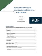 Propuesta Para El Modelado Matemático de Contaminación Atmosférica en La Plaza Marin