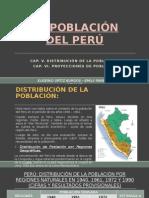 Evolucion de la poblacion del Peru