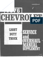 1976 Chevrolet Light Truck Service Overhaul Supplement