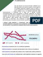 Polimerizzazioni - Aspetti Generali