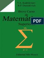 Breve Curso de Matematicas Superiores