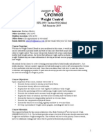 Weight Control Syllabus