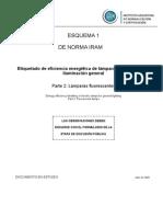 Iram 62404-2 E1 Etiquetado de eficiencia energética de lámparas eléctricas para iluminación general. Parte 2