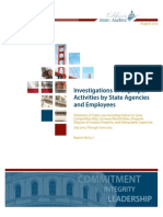 Improper Activities by State Agencies and Employees