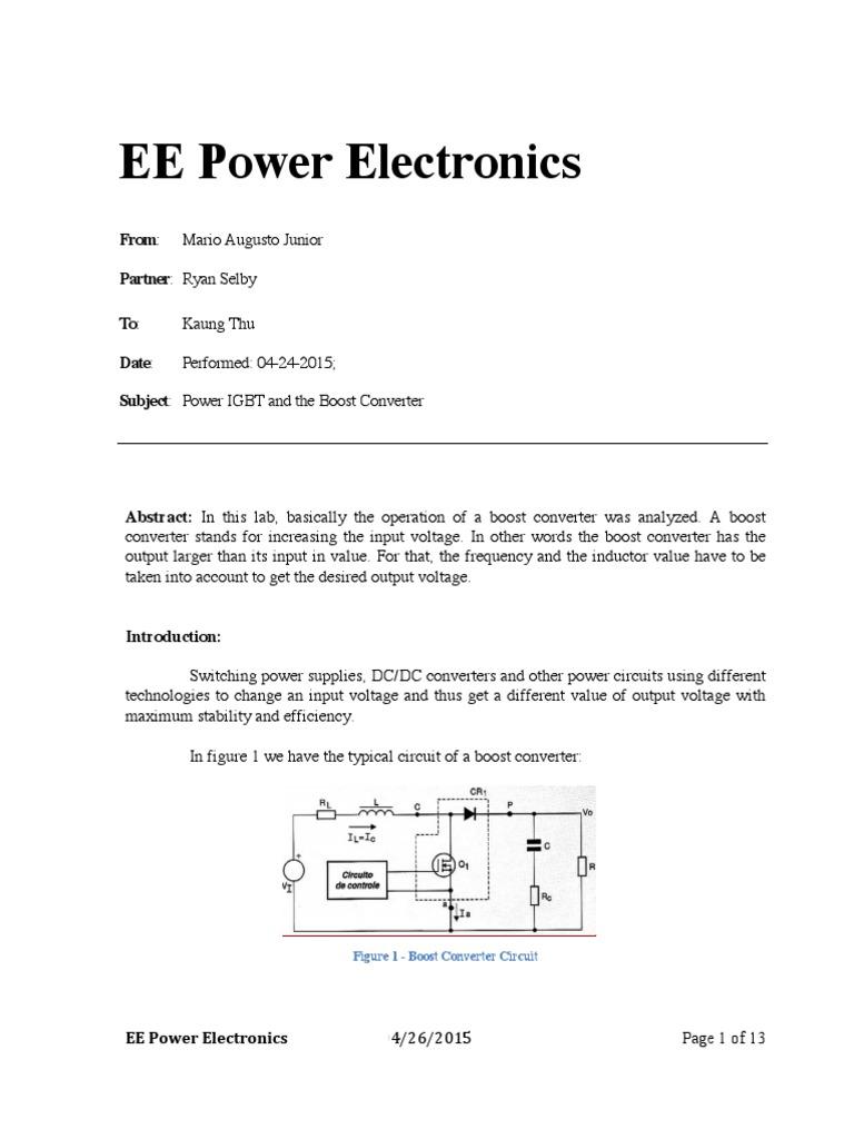 Circuito Boost : Conversor dc dc com volt boost xl curto circuito