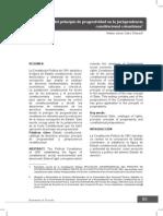 Aplicación Del Principio de Progresividad en La Jurisprudencia Colombiana - Calvo