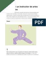 Cómo Ser Un Instructor de Artes Marciales[1]