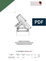 PNCO-PE-CS-002 (Qualificação e Certificacão de Operadores de Pelotização)