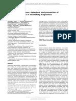 Propedeutica Complementar Erros Laboratoriais II