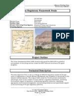 afghanistan oil and gas regulatory framework study