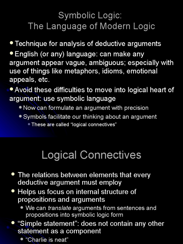 Logic Lesson 2 Argument Logic