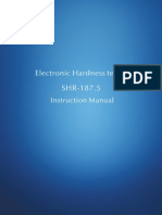 Sinowon Rockwell Hardness Tester SHR-187.5 Operation Manual En