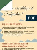 Tarea de Español- subjuntivo