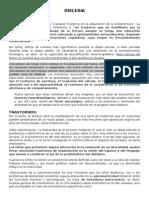 La Dislexia, características y tratamiento.
