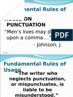 Legal Writing Punctuations