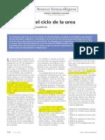 Transtornos Del Ciclo de La Urea (Vias Metabolicas Alternativas)