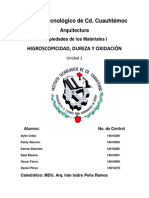 Hipogroscosidad,Dureza y Oxidacion