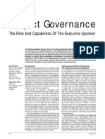 The Role and Capabilities of the Executive Sponsor