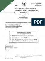 Cape Pure Mathematics Paper 2 2004