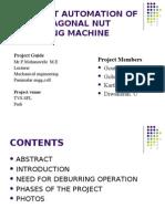 Design and Fabrication of m10 Hexagonal Nut Deburring