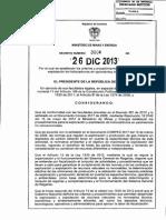 Decreto 3004 de 2013 Minminas