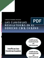 Las Cláusulas Resolutorias en El Derecho Civil Chileno