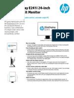 HP E241i Datasheet