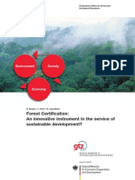 Forest Certification Innovative Instrument for SD