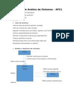 APS1 - Trabalho de Análise de Sistemas - Anderson Junior Rodrigues