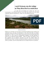 Reisen Sie Nach Vietnam, Um Die Ruhige Landschaft Im Thuy Bieu Dorf Zu Entdecken
