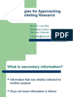 Strategies for Approaching Marketing Research