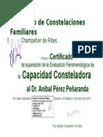 Certificado de Aníbal Pérez
