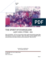 CTTNBC - 004 - Course Outline - The Spirit of Evangelism