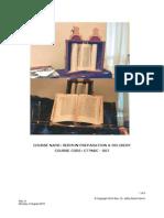 CTTNBC - 007 -Course Outline - Sermon Preparation & Delivery