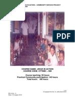 CTTNBC - 008 -Course Outline - Jesus in Action - Community Project