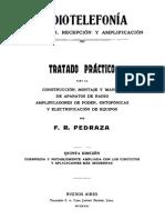 Tratado Práctico de Radiotelefonía - 5ta Edición - F. R. Pedraza (1931)