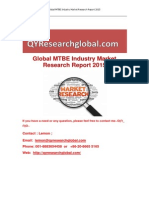 Global MTBE Industry Market Research Report 2015
