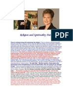 Religion and Spirituality Part 3
