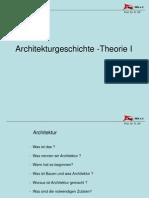1 Architekturgeschichte Und Theorie Teil i