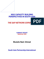 NGO Capacity Building Perspectives in South Asia